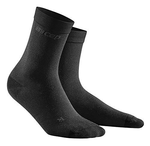 CEP – BUSINESS MID CUT SOCKS für Herren | Atmungsaktive Kompressionssocken in schwarz | Größe IV