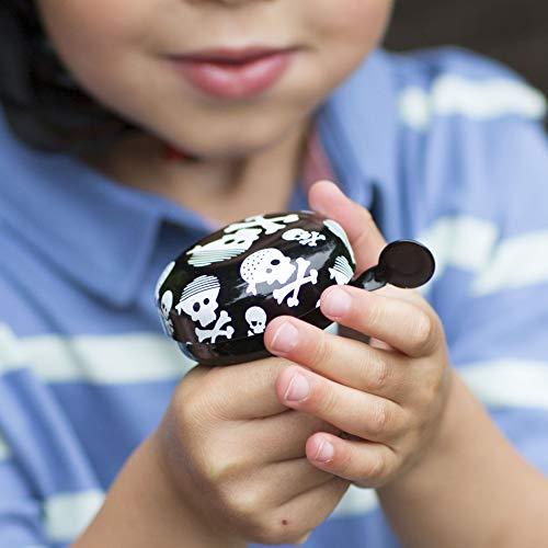 KIDDIMOTO Glocke Design Klingel/Fahrradklingel zubehör Fahrrad, Roller, Kinderroller Kinderfahrrad & Laufrad - Skullz (Klein)- 58mm - 4