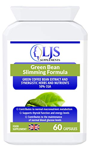 LJS Supplements Green Bean Slimming Formula - Weight Loss - Fat Burning - Appetite Control - Healthy Metabolism - Stop Cravings - Increased Energy Levels - Made in UK.