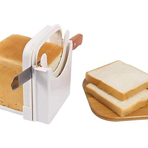 Handige en handige broodsnijmachine voor thuis, opvouwbare en verstelbare handbroodmachine, keukengadget voor zelfgemaakte broodsnijmachines