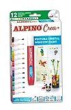 Pintura para Cristal Alpino Crea+ - Pinturas para Niños con 12 Colores - Pintura para Azulejos,...