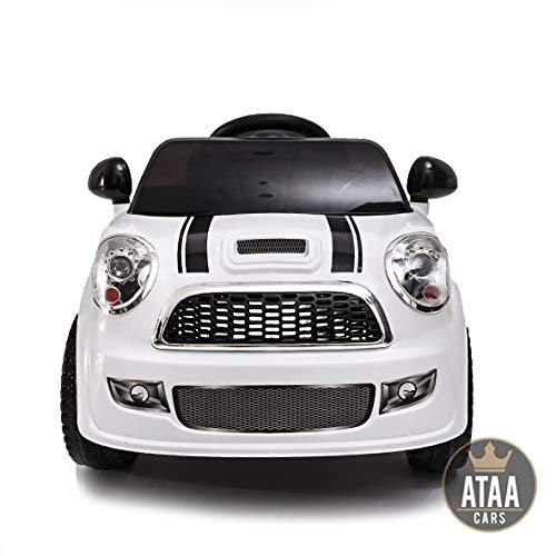 ATAA CARS Mini UNO 6V- Voiture électrique pour Enfants avec télécommande Pas Cher - Blanc