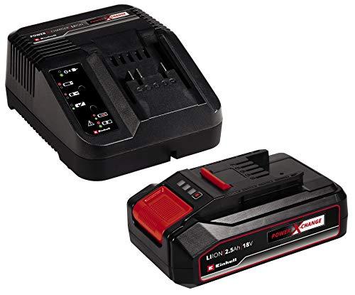 Original Einhell 18V 2,5Ah PXC Starter Kit (Akku & Ladegerät, 18 V, Max. Power 720 W, universell für alle Power X-Change-Geräte, prozessgesteuertes Batteriemanagementsystem ABS, 3-stufige LED-Anzeige)