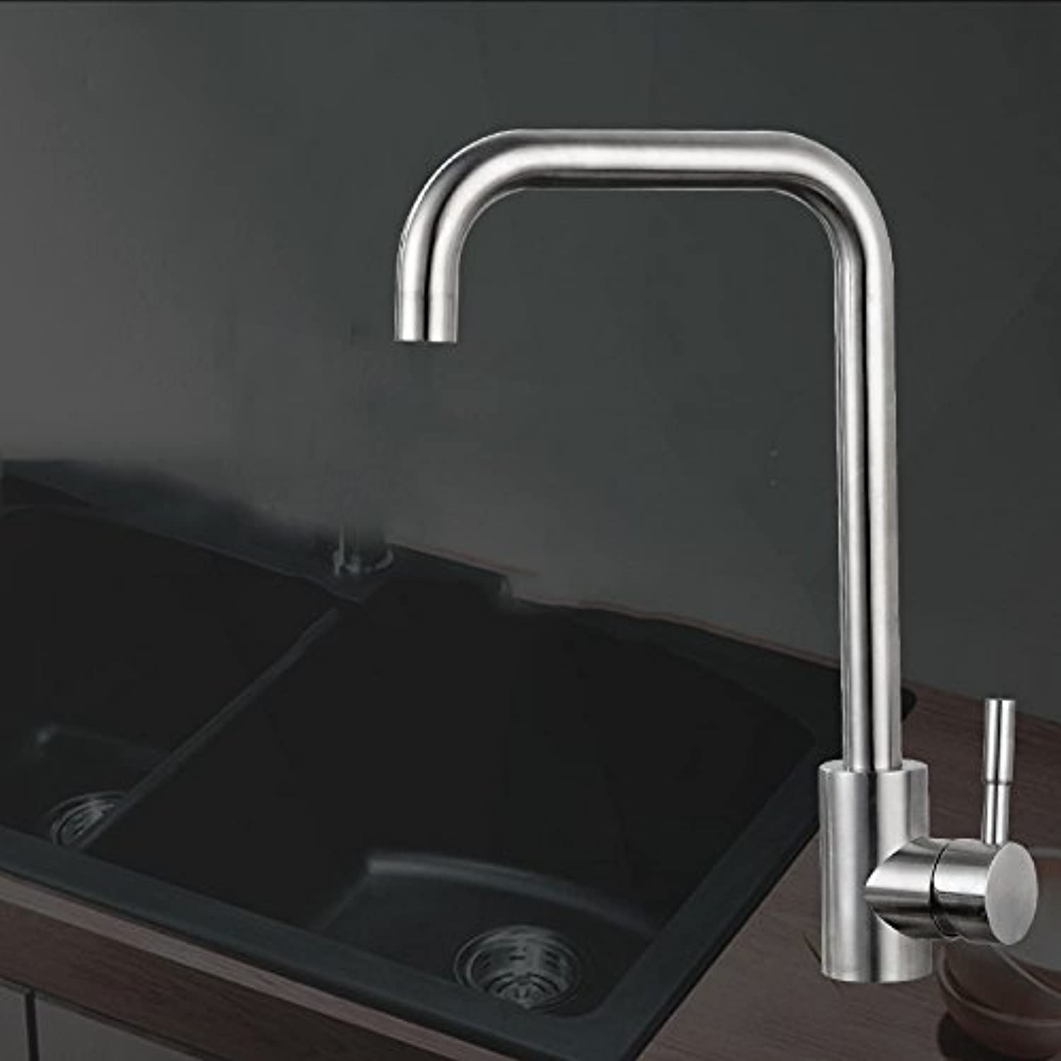 Hlluya Professional Sink Mixer Tap Kitchen Faucet Single hole cold-hot water tap to redate,F