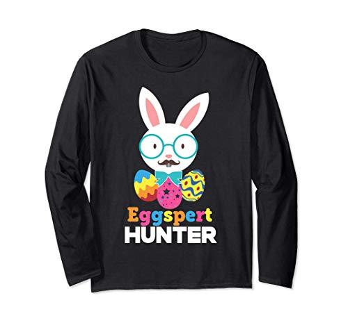 Cacciatore di uova della domenica di Pasqua Funny Bunny o Ca Maglia a Manica
