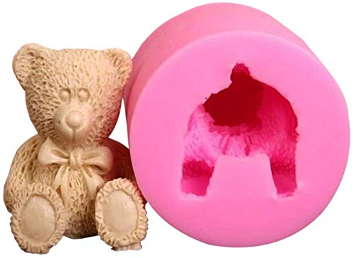 Cake Mold Fudge Cake Chocolate Soap DIY Mold 3D Baby Bear Silicone Candle Molds Handmade Soap Mold Teddy Bear Chocolate Candy Mold Resin Epoxy Mold