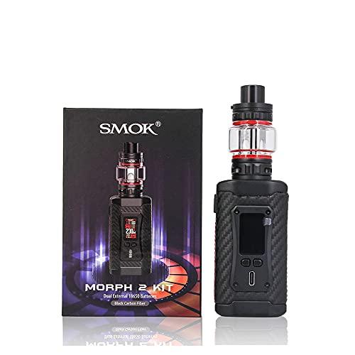 Kit SMOK Morph 2 con serbatoio TFV18 da 7,5 ml con 230W Morph 2 Mod Schermo da 0,96 pollici Vape Device Mesh Coil Vaporizzatore per sigaretta elettronica (Fibra di Carbonio Nera)