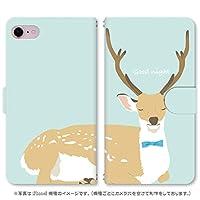スマホ スマートフォン 手帳 スマホケース おやすみ動物 【031_おやすみ どうぶつ 鹿|iPhone6s】