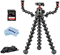 JOBY Free Kit with GorillaPod 5K Kit with Rig for DSLR Camera, 11 lbs Capacity, 17