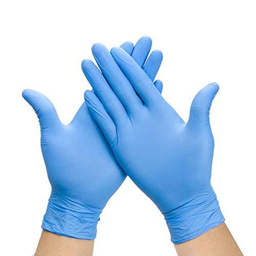 HPPL20pcs Zwart/blauw Wegwerphandschoenen Latex Vaatwasser/Keuken/Medisch/Werk/Rubber/Tuinhandschoen Universeel Voor Links en Rechts Hand VVT5,Blauw, S