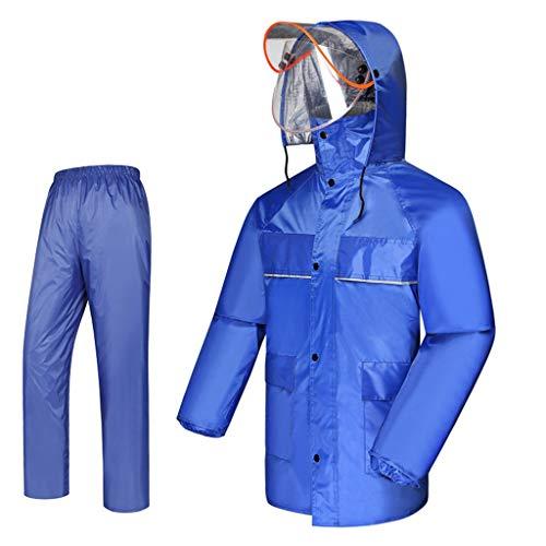 WOHAO Manteau imperméable Mode Raincoat Imperméable et Les Femmes des Hommes en Tissu Anti-Pluie et Anti-Pluie Respirant (Couleur: C, Taille: M) (Color : B, Size : Large)