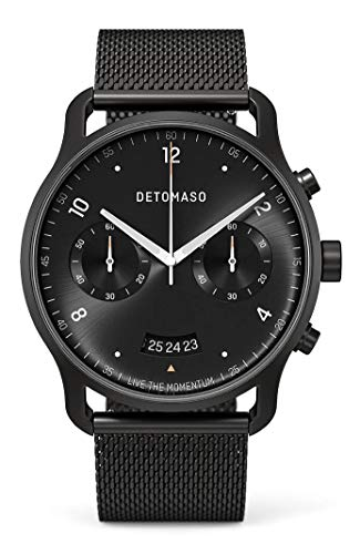 DETOMASO SORPASSO - Reloj de pulsera analógico para hombre con cronógrafo, edición limitada, color negro