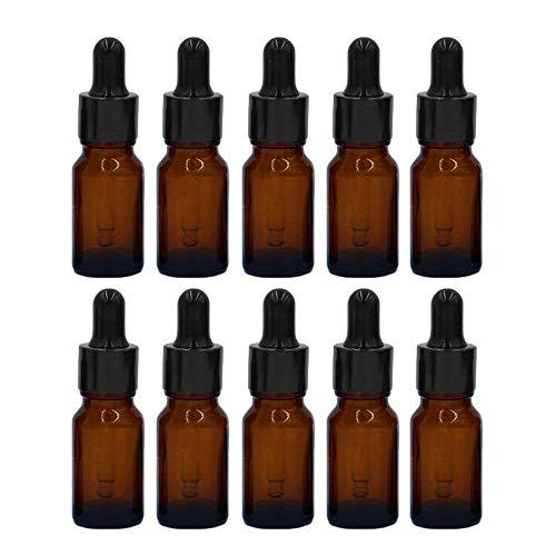 MINGZE 10 piezas Cuentagotas botellas vidrio aceites