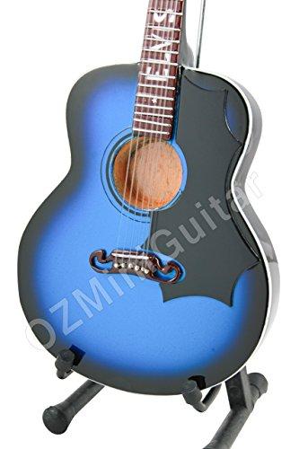 OZMiniGuitar Elvis Presley - Guitarra acústica en miniatura, color azul