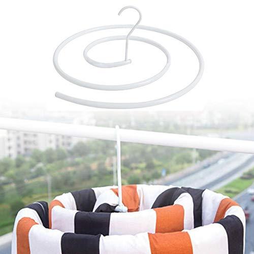 mooderff Washanger, spiraal kledinghanger, draaibaar quilt-opbergrek, kledinghanger, quilt-plafond-droogrek voor het balkon aan het buitenraam