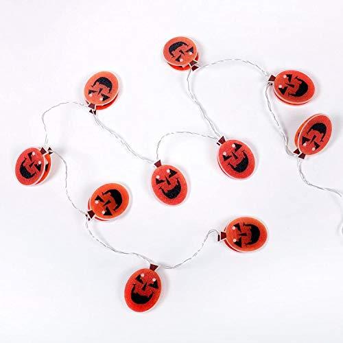 WSXQAZ Props Halloween Decorations, Pumpkin Fairy Tale Lamp String Halloween Lights, Orange Lid Halloween Decorations Outdoor Suitable for Halloween Office Party Supplies (Color : Red)