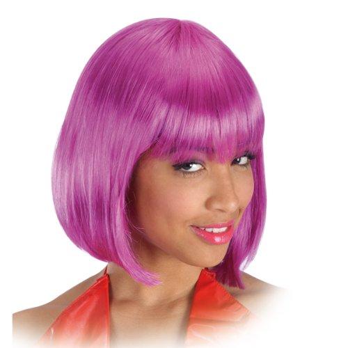 Perruque carre Pin Up 60's 70's 80's - Frange - Synthetique - Violet - 25