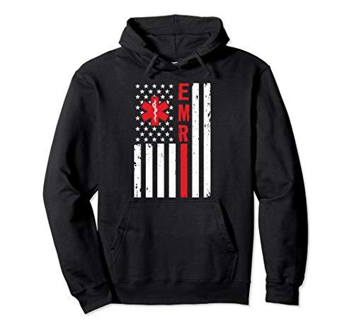 Emergency Medical Responder American EMR EMT Pullover Hoodie