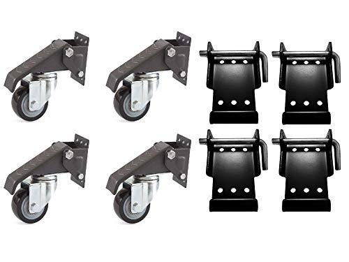 Set Workbenchcaster (4) & Schnellanbringungsplatte (4) Heberolle QuickFix