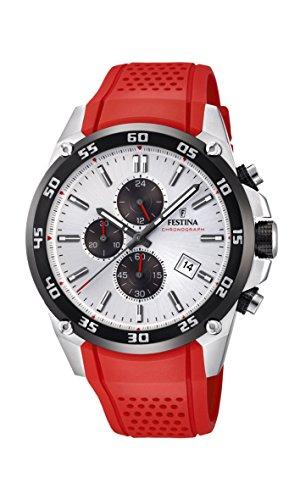 Festina Unisex Erwachsene Chronograph Quarz Uhr mit Kautschuk Armband F20330/1