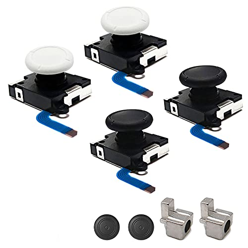 TRYING 3D Analog Joystick Joy-Cons Replacement Left/Right Repair Kit Thumb Sticks Sensor with 4 Y Screws for NS Switch Joycon Controller and Switch Lite Console Scorpio