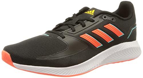 adidas Runfalcon 2.0, Road Running Shoe Hombre, Core Black/Solar Red/Solar Gold, 42 EU