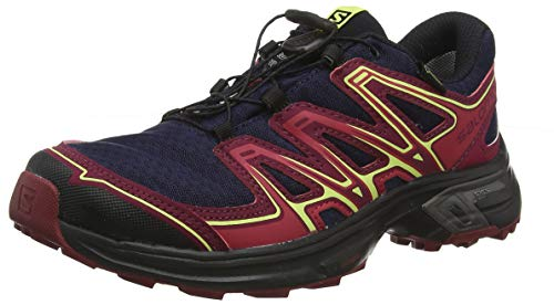 Salomon L39971400, Scarpe Femminili da Corsa e Trail Running Wings Flyte 2 GTX, Sintetico/Tessile, Blu (Evening Blue/Beet Red/Sunny Lime), Misura: 38 2/3