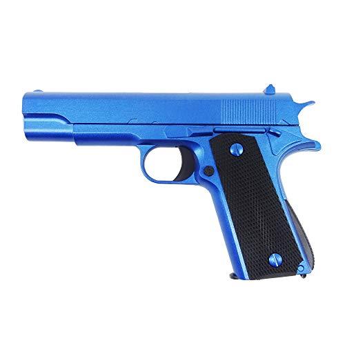 Rayline Softair Pistole Voll Metall RV11 Blue, Nachbau im Maßstab 1:1, Länge: 18,6cm, Gewicht: 320g, Kaliber: 6mm, Farbe: blau - (unter 0,5 Joule - ab 14 Jahre)
