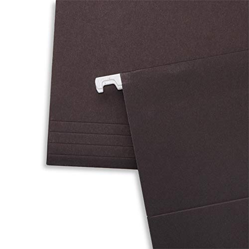 Blue Summit Supplies Hanging File Folders, 25 Reinforced Hang Folders, Designed for Home and Office Color Coded File Organization, Letter Size, Black, 25 Pack