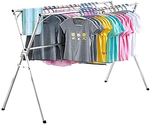 N/Z Home Equipment Electric Heated Clothes Airer Dryer Airer Folding Retractable Drying Racks Indoor And Outdoor Stainless Steel Balcony Expandable Clothes Airer (3 Rail) 135~200cm (Size : 150~240cm)
