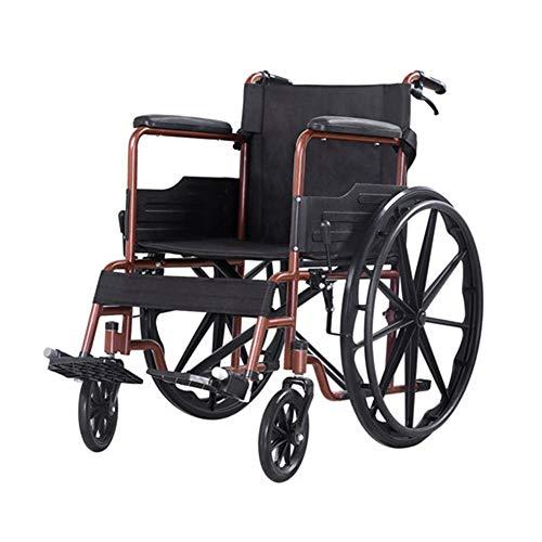 ZXMDP Lichtgewicht Vouwen, Zelf Propel Rolstoel, Attendant-Propelled Rolstoel, Draagbare Transit Travel stoel, Handmatige Rolstoel Geschikt voor Ouderen