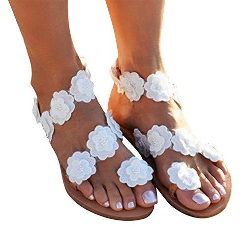 KRILY Sandalias Bohemias para Mujer Sandalias Casuales de Playa Dulce para Verano...