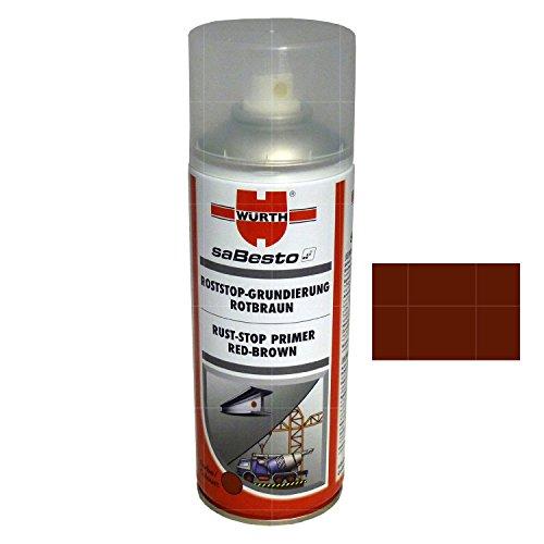 Würth Roststop-Grundierung Rotbraun 400ml+ Zubehör