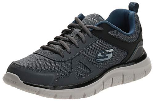 Skechers Track Scloric Men Sneaker Trainers Gray Navy 52631, Numero di Scarpe:EUR 42