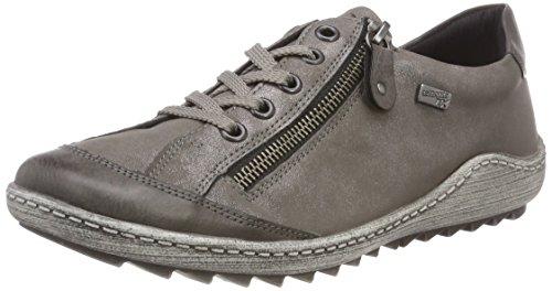 Remonte Damen R1402 Sneaker, Grau (Fumo/Mineral 44), 39 EU