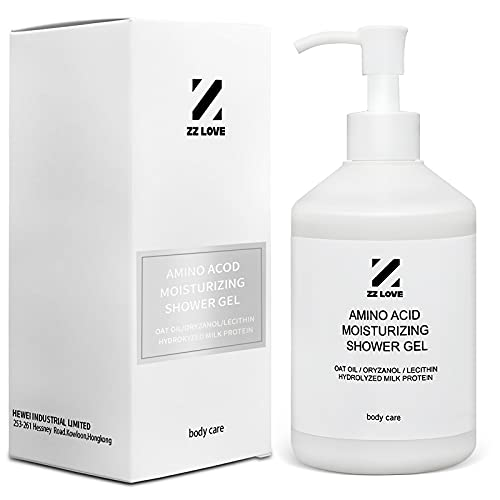 ZZLOVE Amino Acids Body Wash for Men Women Moisturizing Shower Gel with Milk Protein Hydrolysate and Natural Plant Extracts