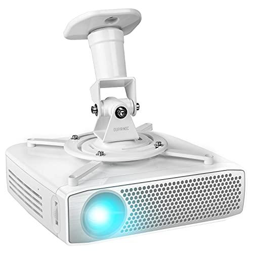Duronic PB07XB Beamer Halterung   Projektor Halterung   Universal Wandhalterung   Halterung für Video-Projektor   drehbar und schwenkbar   Heimkino   Traglast bis zu 10 kg   360° Rotation