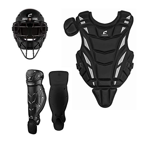 CHAMPRO Helmax Youth Baseball Catcher's Gear Box Set