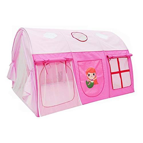 JSJJAET lektält överdimensionerat tält barn säng tält pojkar och flickor delad säng artefakt lehus säng baldakin prinsessa säng spisellek (färg: Röd)