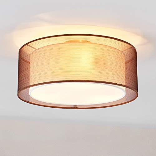 Lindby Deckenlampe \'Nica\' dimmbar (Modern) aus Textil u.a. für Wohnzimmer & Esszimmer (3 flammig, E14, A++) - Deckenleuchte, Lampe, Wohnzimmerlampe