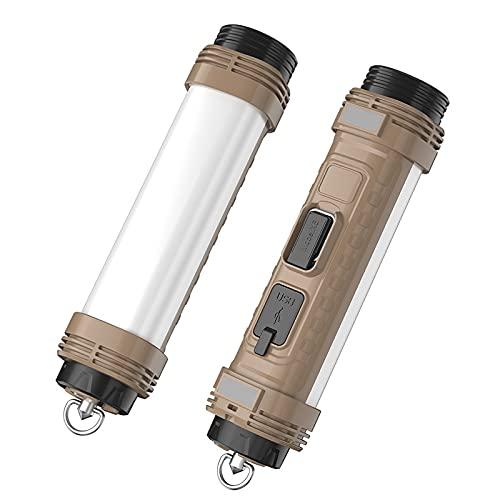 Lampara Camping de Adsorción, Linterna Camping LED portátil de Power Bank, Recargable Camping Lámpara,3 modos de iluminación, para senderismo,emergencia, pesca, senderismo.