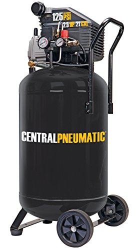 Central Pneumatic 2.5 Horsepower, 21 Gallon, 125 PSI Cast Iron Vertical Air Compressor