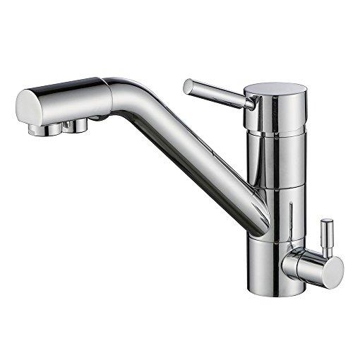 Homelody - Grifo de cocina de 3 vías para filtro de agua, grifo de cocina, grifo de cocina 3 en 1
