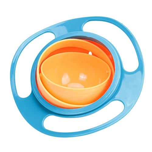 UEB Ciotola Rotante per Bambini Ciotola Giroscopio Piatto Universal 360° Rotate a Prova...