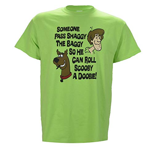 Someone Pass Shaggy The Baggy so He Can Roll Scooby a Doobie on Green t-Shirt - Medium