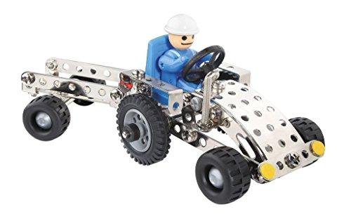 Eitech 00081 - Metallbaukasten Starter-Set - Traktor mit Anhänger, 150-teilig