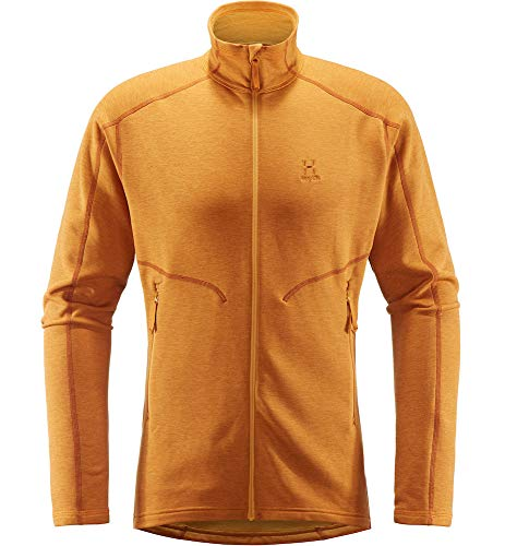 Haglöfs Fleecejacke Herren Fleecejacke Heron Jacket Men wärmend, atmungsaktiv, Stretch beweglich Extra Large Desert Yellow XL XL - Empty for carryovers -