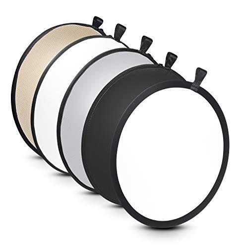 Walimex 5-in-1 Faltreflektor Set (56 cm) wavy gold/silber/weiß/schwarz/transparent