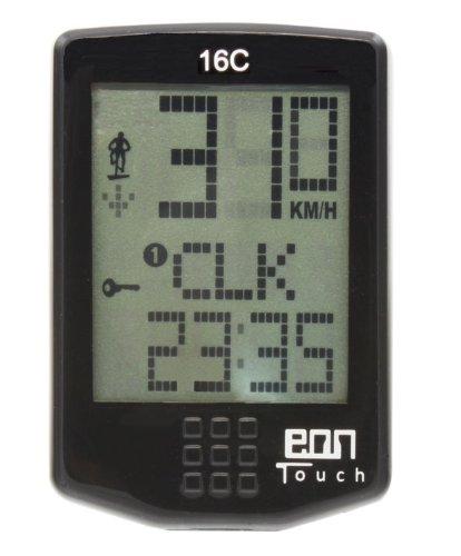 Echowell EON Touch 16C Ciclocomputador, Unisex-Adult, Negro