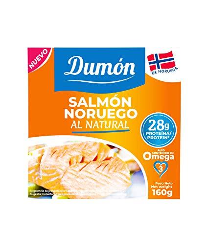 DUMON - NEU - 18 Einheiten von 160 Gramm norwegischem Lachs in Dosen in eigenem Saft, ohne Knochen und ohne Haut. 26 Gramm PROTEIN pro Portion. Fischkonserven mit OMEGA 3, glutenfrei.